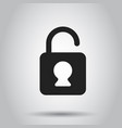 lock sign icon padlock locker business concept vector image