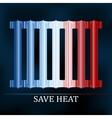Save heat colored radiator vector image