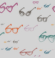 seamless pattern with glasses vector image