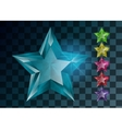 Transparent Gemstones stars isolated Set of vector image