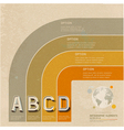 Infographic retro color options banner vector image