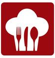 Icon chef restaurant vector image vector image