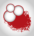 Grunge background with red circles vector image