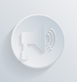 circle icon with a shadow loudspeaker vector image