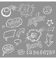 Bomb explosion comic style templates vector image