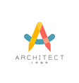 Letter A architect logo vector image