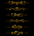 golden vintage divider vector image vector image