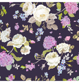 Seamless Floral Shabby Chic Pattern vector image vector image