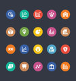 Glyphs Colored Icons 17 vector image