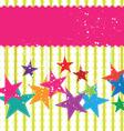 festival star background vector image