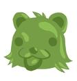 Cartoon green gum bear icon vector image