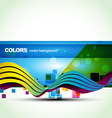 blue color banner vector image