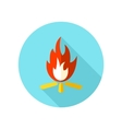 Bonfire flat icon with long shadow vector image