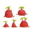 cartoon fantasy alien monster plants set vector image