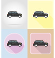 old retro transport flat icons 06 vector image