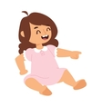Sitting baby girl vector image