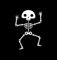 skeleton dance funny dancing skeleton vector image