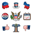 Nine American Elections Icons vector image vector image