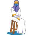Islamic Woman vector image
