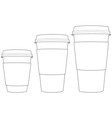 Coffee Paper Cups vector image