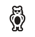 style black and white icon bear security vector image