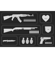 Army game resource set Monochrome vector image
