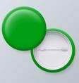 Blank green badges vector image