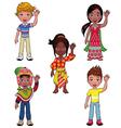 Children in the world vector image