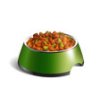 dog bowl dry food composition vector image