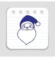 Doodle Santa Claus icon vector image