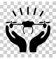 drone launch hands icon vector image