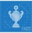 flat trophy vector image