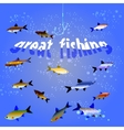 Great fishing vector image