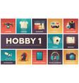 hobby - set of flat design infographics elements vector image