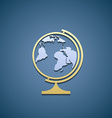 Icon globe Flat graphic vector image