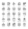 industrial and construction line icon set 6 vector image
