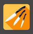 knifes set concept background cartoon style vector image