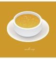 noodle soup vector image