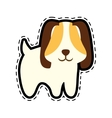 puppy animal pet ear long cut line vector image