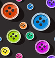 Seamless Buttons Colorful Button Pattern on Dark vector image