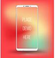 smartphone railistic mockup vector image