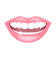 smile with white teeth vector image