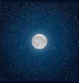 Background Starry night sky Star Moon vector image