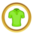 Mens green polo icon vector image vector image