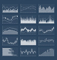 financial candle stick graphs currency business vector image vector image