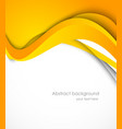 Background with orange wave vector image vector image