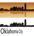 Oklahoma City skyline vector image vector image