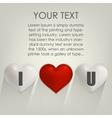 I love you with heart Postcard vector image