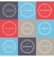 Set of Elegant lineart logo design elements vector image