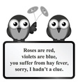 Hay Fever Poem vector image